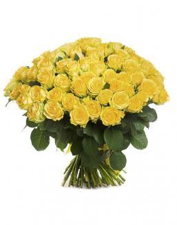 Bouquet of 101 yellow holland roses | Roses to mother